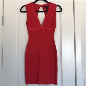 BCBGMAXAZRIA Bright red bandage dress